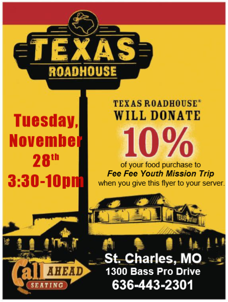 Texas Roadhouse Fundraiser